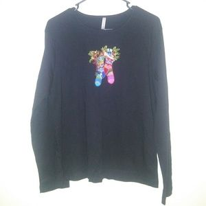 White stag womens holiday top Size Large black